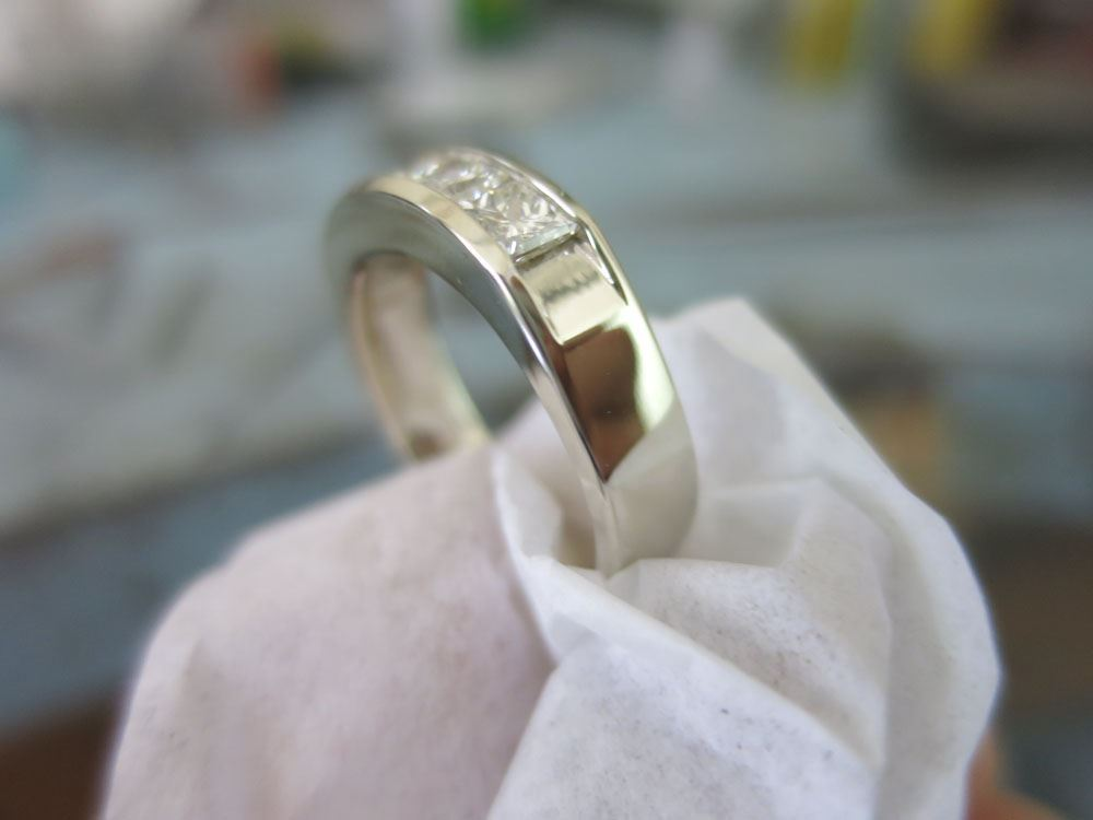 Picture of 14K Gold Men's Princess-Cut CZ Ring