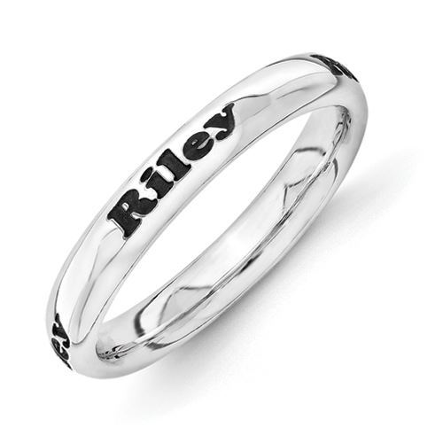 Picture of Silver Personalized Plain Ring