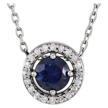 Picture of 14K White Gold Halo-Style Pendant