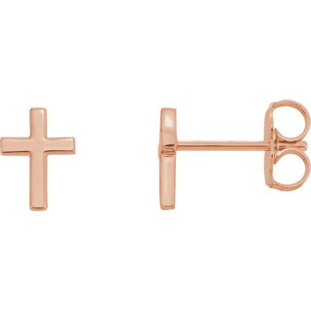 Picture of 14K Gold Cross Earrings