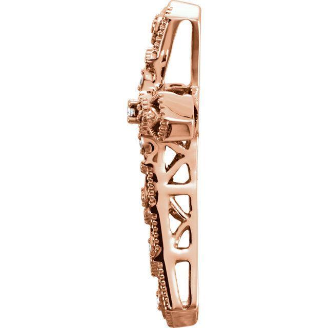 Picture of 14K Gold .025 CTW Diamond Cross Pendant