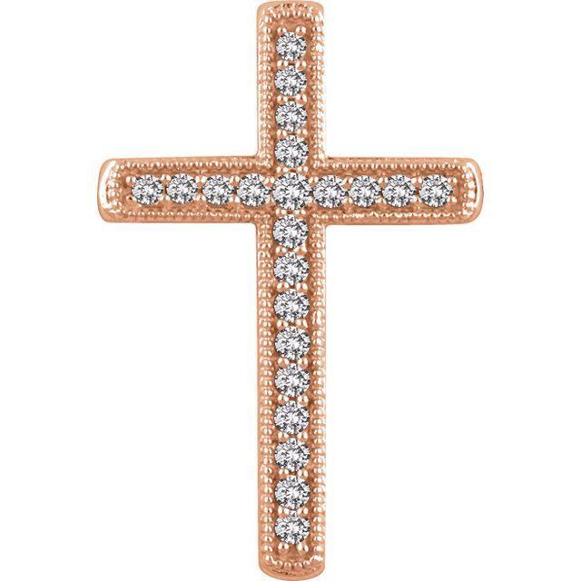 Picture of 14K Gold 1/4 CTW Diamond Cross Pendant
