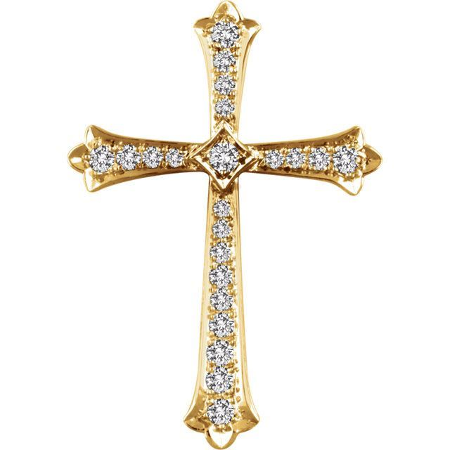 Picture of 14K Gold 3/4 CTW Diamond Cross Pendant