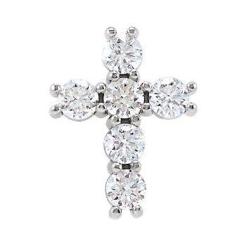 Picture of 14K Gold 1/3 CTW Diamond Cross Pendant