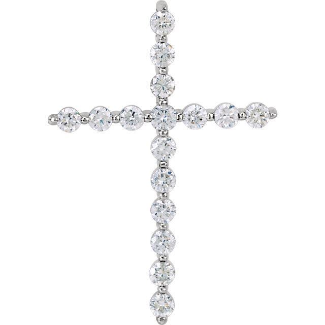 Picture of 14K Gold 1.00 CTW Diamond Cross Pendant