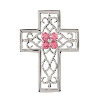 Picture of Pink Tourmaline Cross Pendant