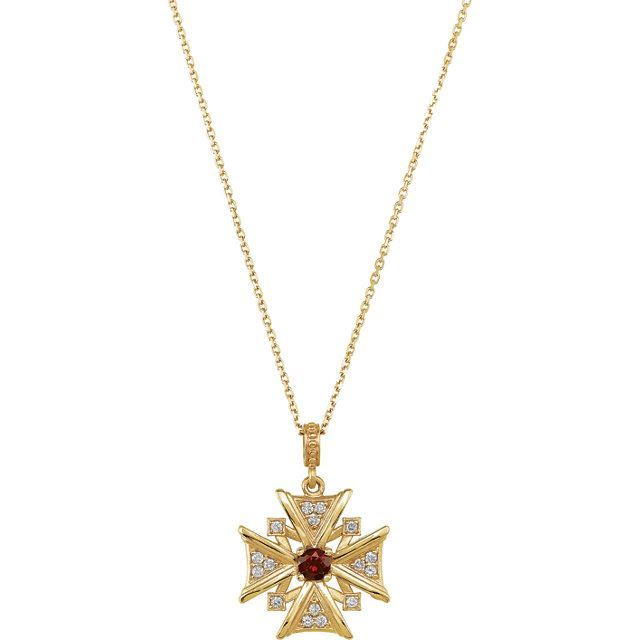 Picture of 14K Gold Vintage-Style Cross Pendant Mounting