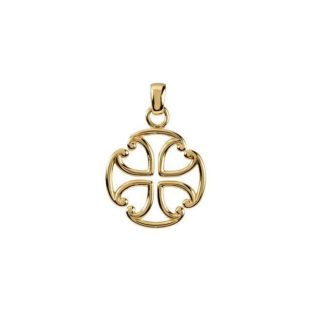 Picture of 14K Gold Maltese Cross