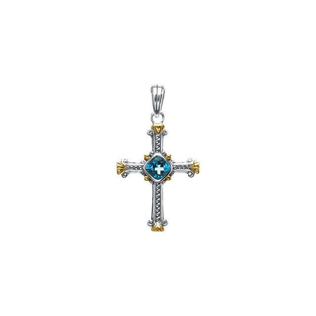 Picture of Two-Tone Cross Pendant