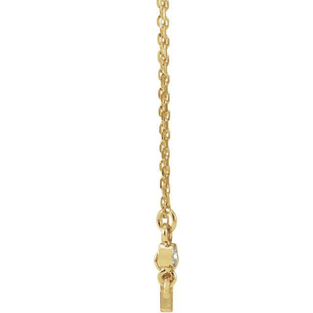 "Picture of 14K Gold .03 CTW Diamond Sideways Cross 16-18"" Necklace"