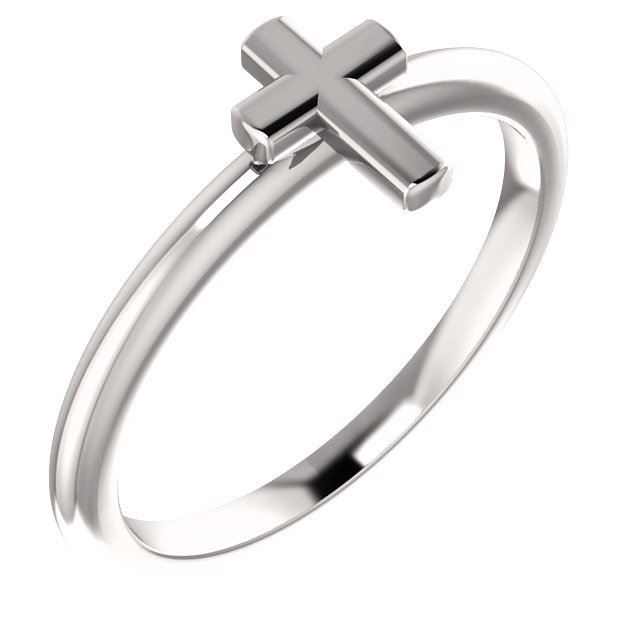 Picture of 14K Gold Stackable Cross Ring