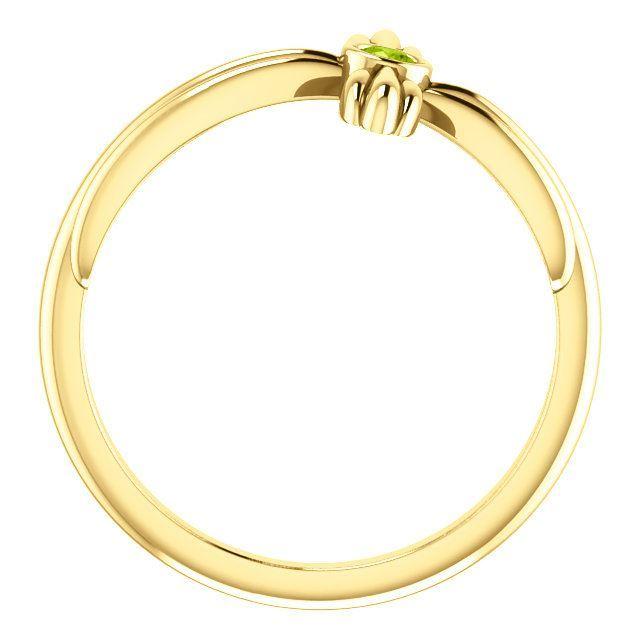 Picture of 14K Gold Peridot Sideways Cross Ring