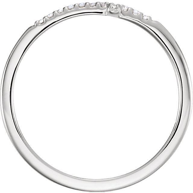 Picture of 14K Gold .08 CTW Diamond Sideways Cross Ring