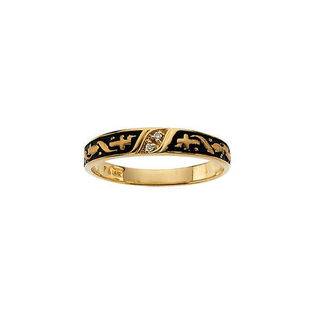 Picture of 14K Gold  Diamond Religious Engagement Ring