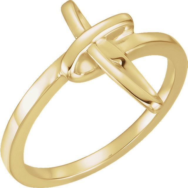 Picture of 14K Gold Cross Ring