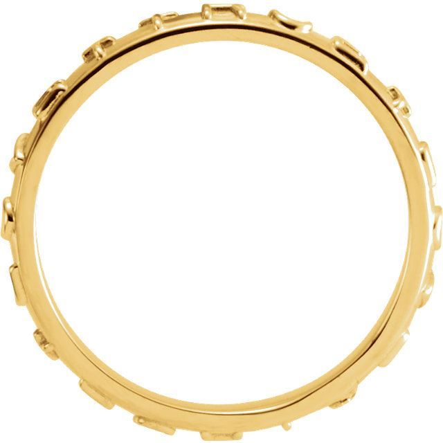 Picture of 14K Gold True Love Chastity Ring with Packaging Size 5