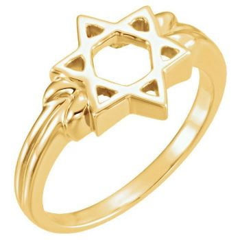 Picture of 14K Gold Star of David Ring
