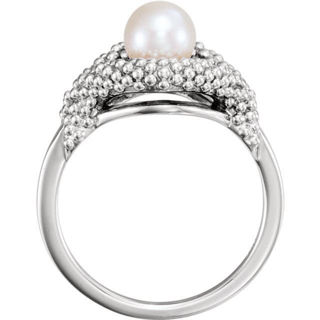 Picture of 14K Gold Freshwater Cultured Pearl Beaded Ring