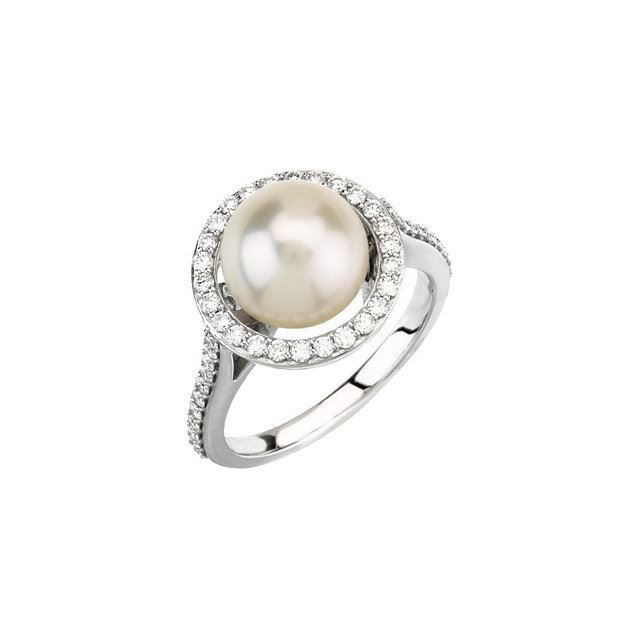 Picture of Halo-Style Ring for Pearl