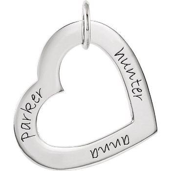 Picture of Names Engravable Medium Heart Loop