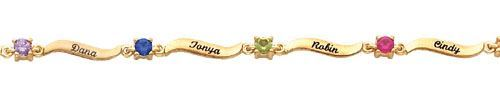 Picture of Silver or Gold Engravable Family Bracelet