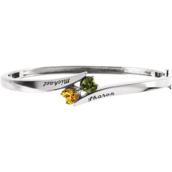 Picture of Heart To Heart Engravable Bangle Bracelet