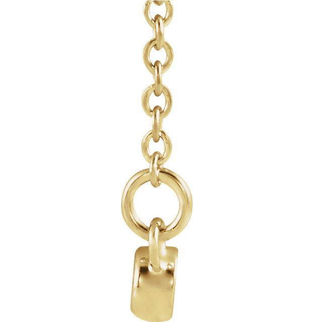 """Picture of 14K Gold Infinity-Inspired 16-18"""" Bar Necklace"""