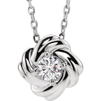 """Picture of Knot Necklace 16-18"""" chain"""