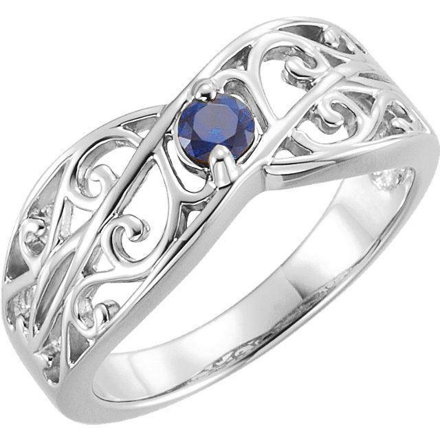1 stone mom family ring