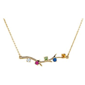 Picture of Family Branch Gold 1 to 5 Stones Mother's Necklace