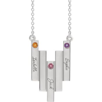 Picture of Family Geometric Necklace 3 Names