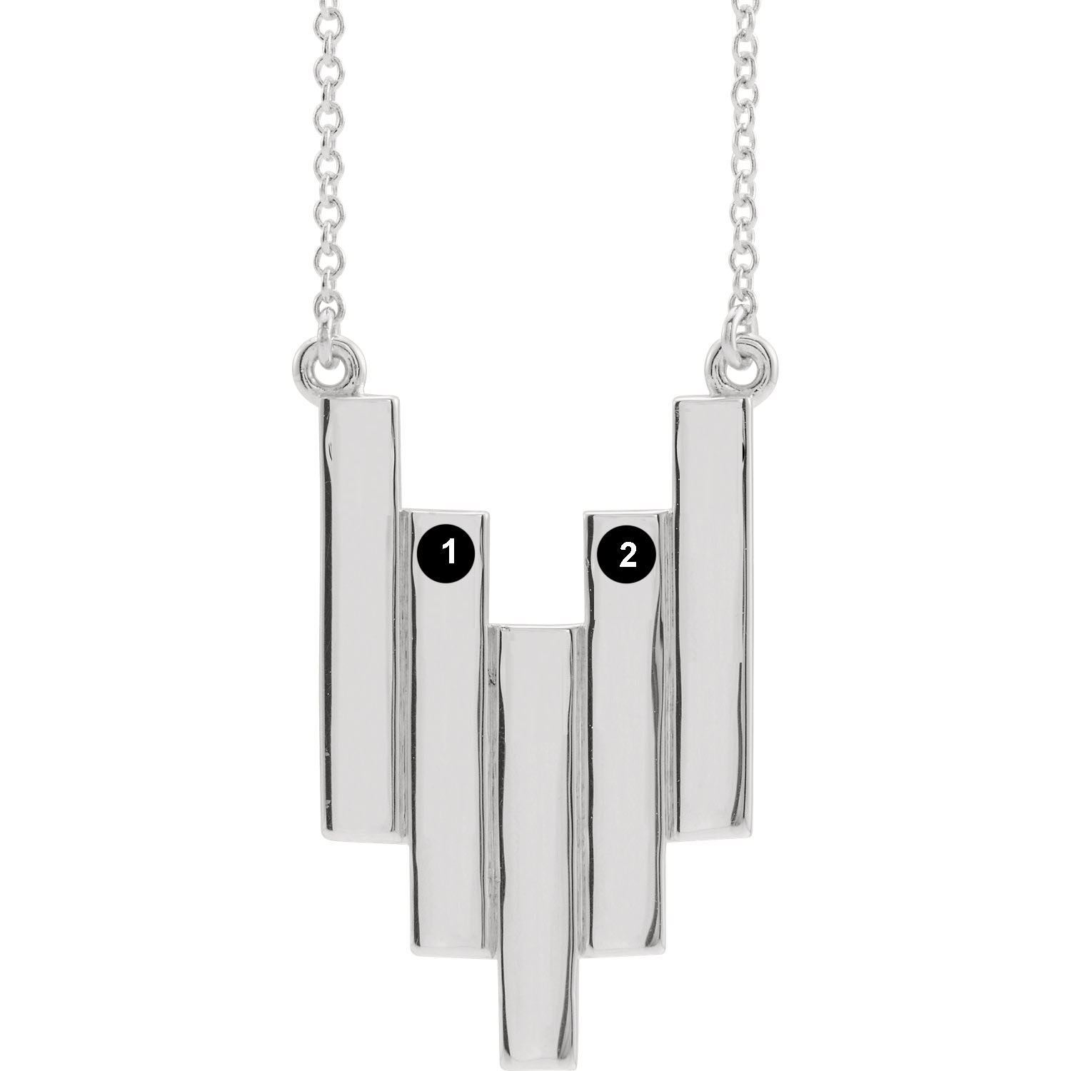 Picture of Family Geometric Necklace 2 Names