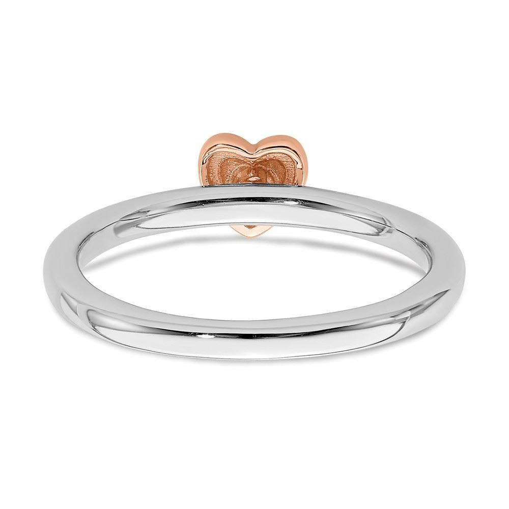 Picture of Diamond Rose Gold Plated Heart Ring Sterling Silver