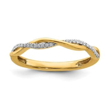 Picture of 14K Yellow Gold Diamond Stackable Ring