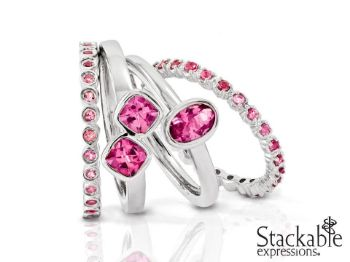 Picture for category October Pink Tourmaline Silver Rings