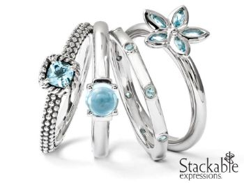 Picture for category December Blue Topaz Stackable Silver Rings