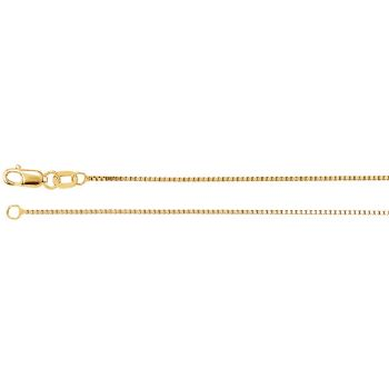 Picture of Yellow Gold Box Chain 0.80 mm