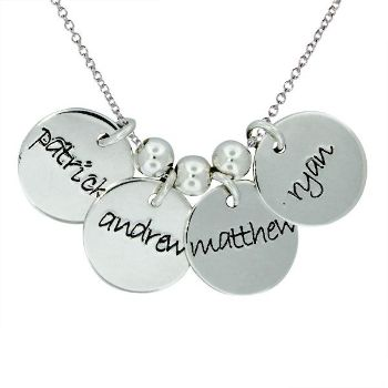 Picture of 4 Discs Name Necklace