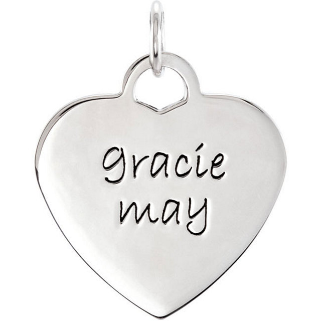 Picture of Small Engravable Heart Shaped Charm