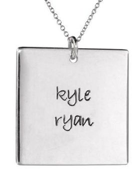 Picture of 2 Names Square Pendant