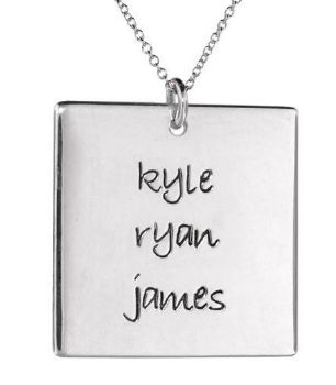 Picture of 3 Names Square Pendant