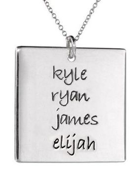 Picture of 4 Names Square Pendant