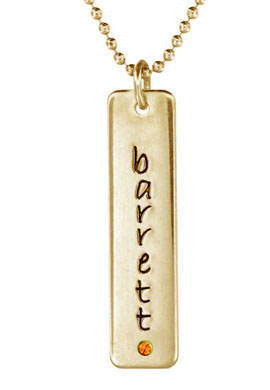 Picture of 1 Engravable Tall Tag with Stone