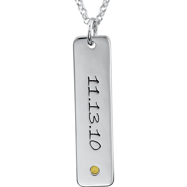 Picture of 4 Engravable Tall Tags with Stone