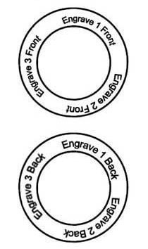 Picture of 3 Names Engravable Loop