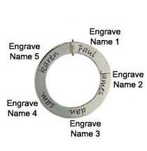 Picture of 5 Names Engravable Loop