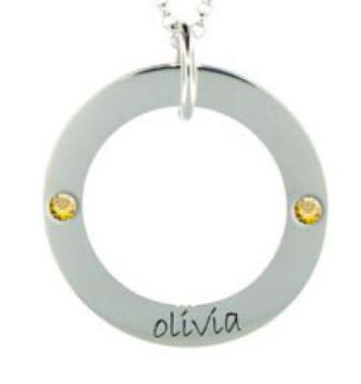 Picture of 1 Name Engravable WEE Loop with Stones