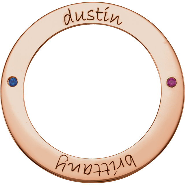 Picture of 2 Names Engravable FOREVER Loop Stones