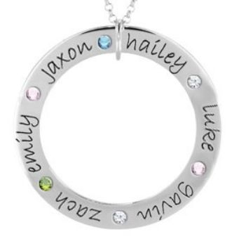 Picture of 6 Names Engravable FOREVER Loop Stones