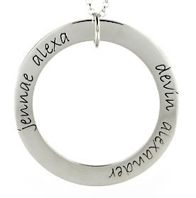 Picture of 2 Names Engravable FOREVER Loop
